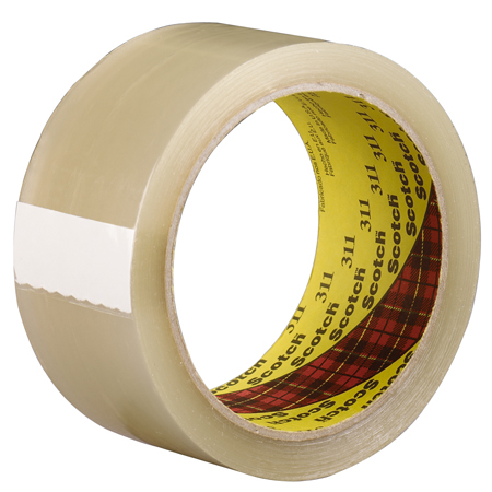 3M[TM] 311 Scotch[R] Box Sealing Tape - Clear, 48mm x 100m