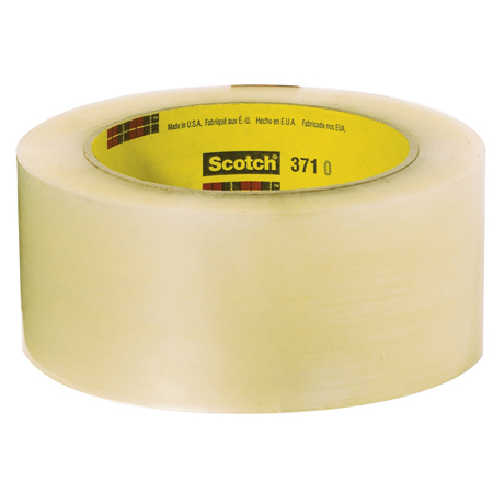 3M[TM] 371 Scotch[R] Box Sealing Tape - Clear, 72mm x 100m