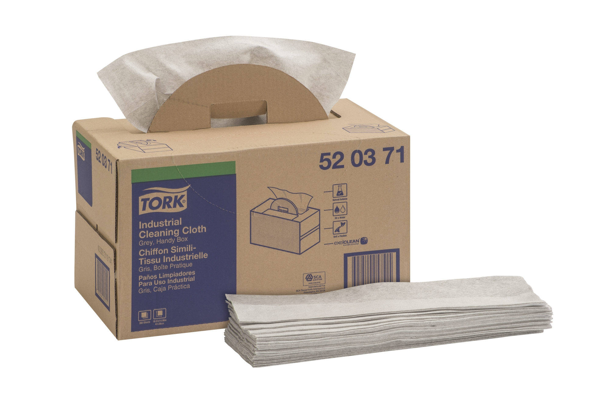 520371 TORK CLOTH HANDY BX 280