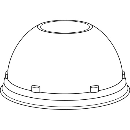 Dart[R] Conex[R] Dome w/Hole Lid For 16CT, 20CT, 24C
