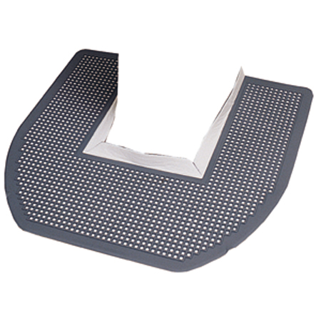 Impact[R] Disposable Toilet Floor Mat - Gray/Orchard Zing