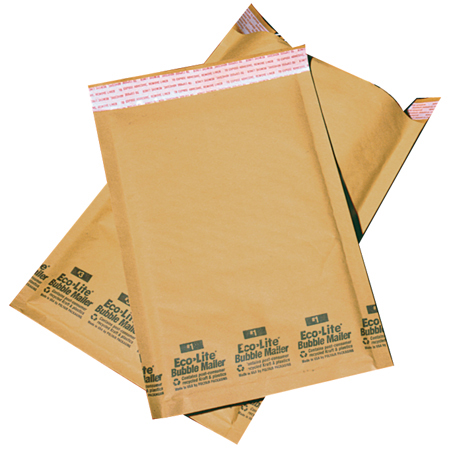 Polyair Ecolite[R] Golden Kraft Bubble Shipping Bag-7.25x12