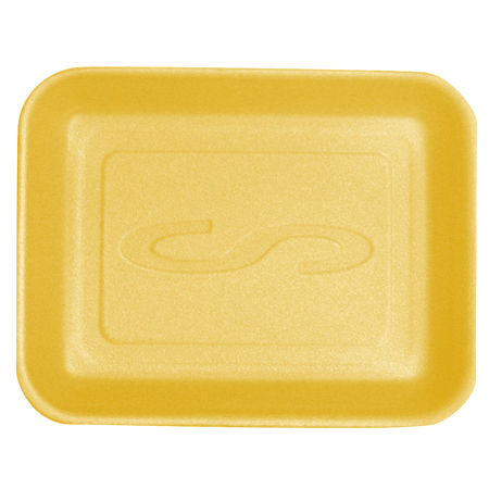 Styro-Tech[TM] Processor Tray - 9.25 x 7.25 x 1.31, Yellow