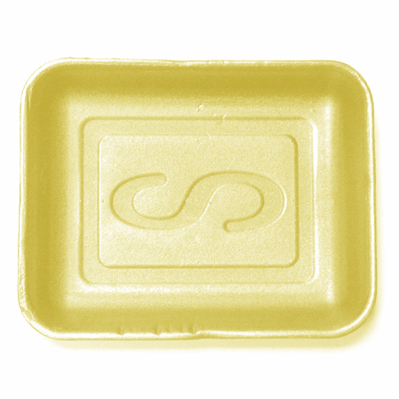 Styro-Tech[TM] Processor Tray - 10.5 x 8.18 x 1.18, Yellow